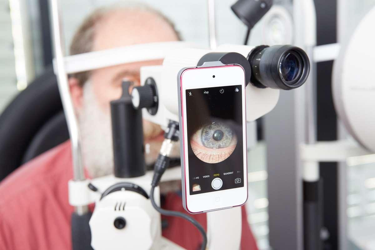 Bild-Dokumentation des vorderen Augenabschnittes